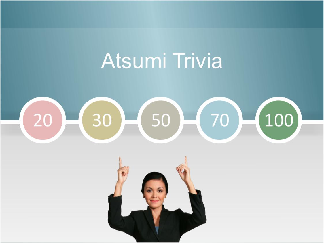 Atsumi Trivia
